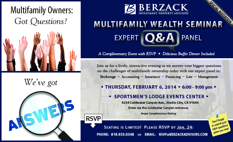 Berzack Advisors 2014 Multifamily Wealth Seminar Invitation em